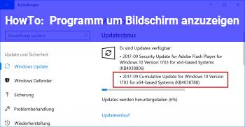 HowTo Programm um Bildschirm anzuzeigen