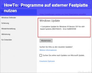HowTo Programme auf externer Festplatte nutzen