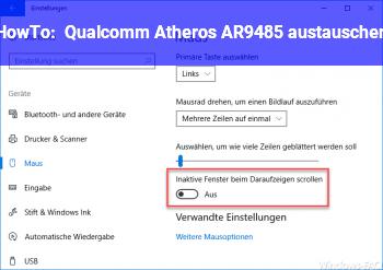 HowTo Qualcomm Atheros AR9485 austauschen