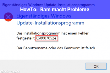 HowTo Ram macht Probleme