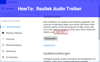HowTo Realtek Audio Treiber