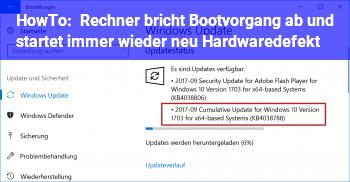 HowTo Rechner bricht Bootvorgang ab und startet immer wieder neu. Hardwaredefekt?