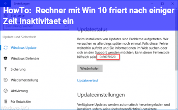 HowTo Rechner mit Win 10 friert nach einiger Zeit (Inaktivität) ein?!