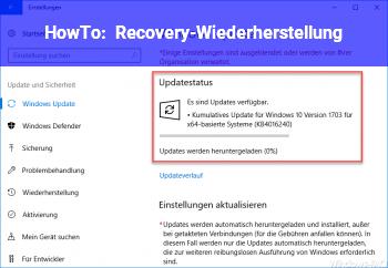 HowTo Recovery-Wiederherstellung