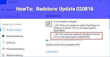 HowTo Redstone Update 02.08.16