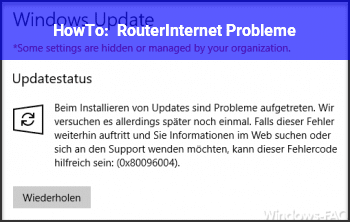 HowTo Router/Internet Probleme
