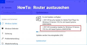 HowTo Router austauschen