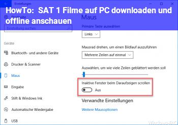HowTo SAT 1 Filme auf PC downloaden und offline anschauen