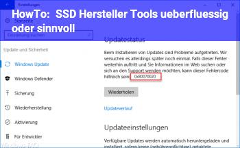 HowTo SSD Hersteller Tools überflüssig oder sinnvoll