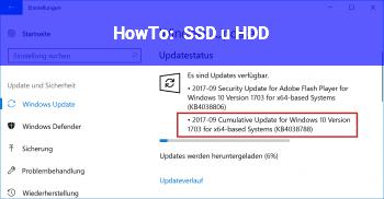 HowTo SSD u HDD