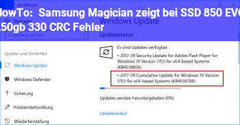 HowTo Samsung Magician zeigt bei SSD 850 EVO 250gb, 330 CRC Fehler