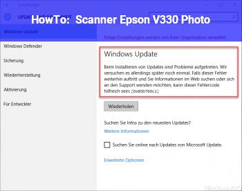 HowTo Scanner Epson V330 Photo