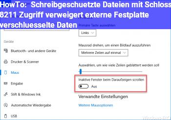 HowTo Schreibgeschützte Dateien mit Schloss – Zugriff verweigert externe Festplatte / verschlüsselte Daten