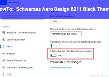 HowTo Schwarzes Aero Design – Black Theme