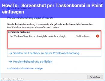 HowTo Screenshot per Taskenkombi in Paint einfügen