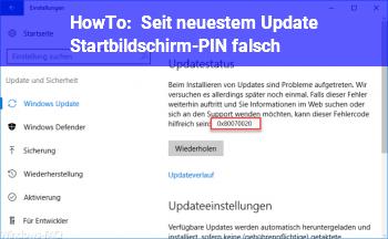 HowTo Seit neuestem Update: Startbildschirm-PIN falsch