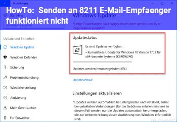 HowTo Senden an – E-Mail-Empfänger funktioniert nicht