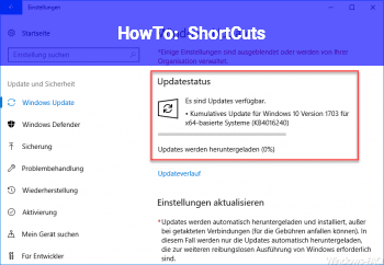 HowTo ShortCuts