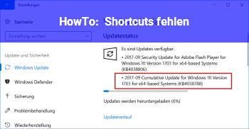 HowTo Shortcuts fehlen!