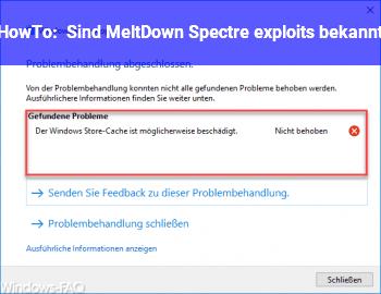 HowTo Sind MeltDown & Spectre exploits bekannt?
