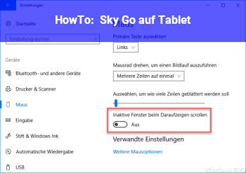HowTo Sky Go auf Tablet