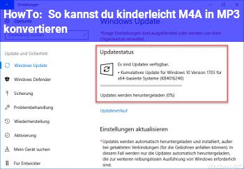 HowTo So kannst du kinderleicht M4A in MP3 konvertieren