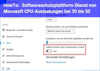 """HowTo Softwareschutzplattform-Dienst von Microsoft"""" CPU-Auslastungen bei 30 bis 50 %"""