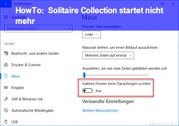 HowTo Solitaire Collection startet nicht mehr