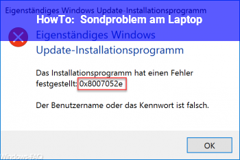 HowTo Sondproblem am Laptop