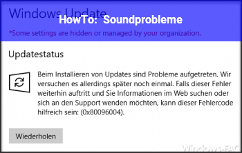 HowTo Soundprobleme