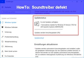 HowTo Soundtreiber defekt?