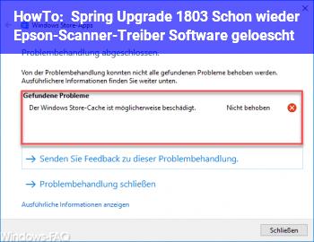 HowTo Spring Upgrade 1803: Schon wieder Epson-Scanner-Treiber & Software gelöscht!