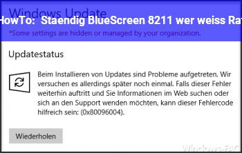 HowTo Ständig BlueScreen – wer weiß Rat ?