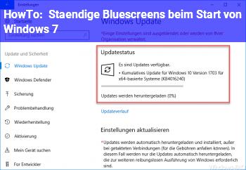 HowTo Ständige Bluescreens beim Start von Windows 7