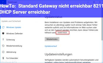 HowTo Standard Gateway nicht erreichbar – DHCP Server erreichbar
