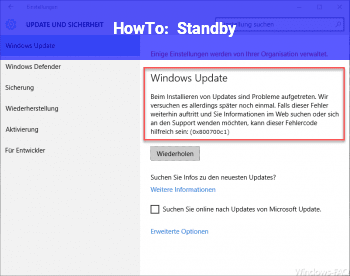 HowTo Standby