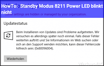 HowTo Standby Modus – Power LED blinkt nicht