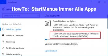 HowTo StartMenü immer Alle Apps