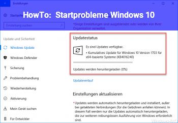HowTo Startprobleme Windows 10