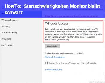 HowTo Startschwierigkeiten (Monitor bleibt schwarz)