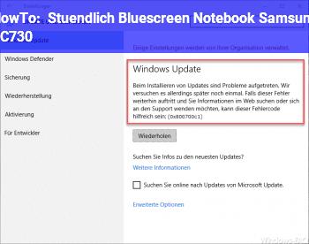 HowTo Stündlich Bluescreen, Notebook Samsung RC730