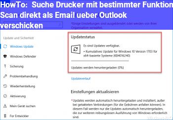 HowTo Suche Drucker mit bestimmter Funktion (Scan direkt als Email über Outlook verschicken)
