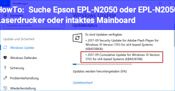 HowTo Suche Epson EPL-N2050 oder EPL-N2050+ Laserdrucker oder intaktes Mainboard