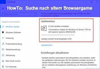 HowTo Suche nach altem Browsergame