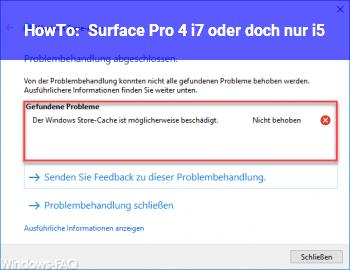 HowTo Surface Pro 4 i7 oder doch nur i5?