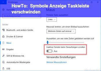 HowTo Symbole Anzeige Taskleiste verschwinden