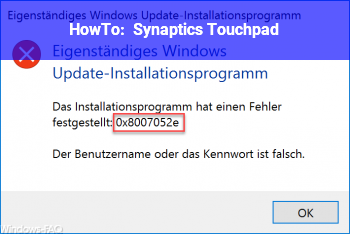 HowTo Synaptics Touchpad