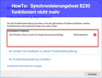 HowTo Synchronisierungshost …. funktioniert nicht mehr