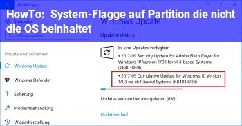 """HowTo """"System""""-Flagge auf Partition, die nicht die OS beinhaltet"""