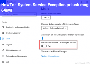 HowTo System Service Exception (prl usb mng 64.sys)